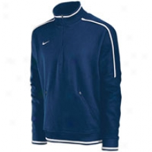Nike Conference Quarter Zip Fleece Top - Mens - Navy/white/white