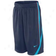 Nike Core Basketball Short - Womens - Obsidian/neo Turquoise/max Orange