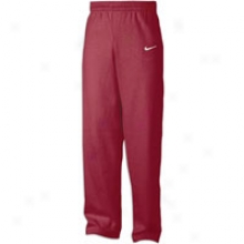 Nike Core Open Bottom Fleece Pant - Mens - Dark Maroon/white