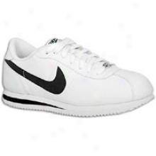 Nike Cortez Basic Leather 06 - Mens - White/black/metallic Silver