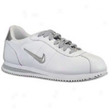 Nike Cortez Bsc Tpu Swoosh - Mens - White/metallic Silver/white