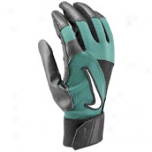 Nike Diamond Elite Edge Batting Gloves - Mens - Black/gorge Green