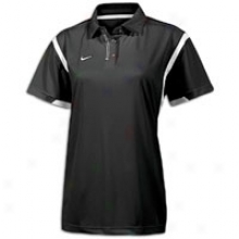 Nike Double Reverse Polo - Womens - Black/white/white