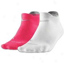Nike Dri-fit Ltwt Low Cut 2 Pk - Spark/white