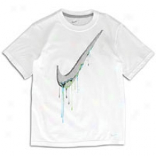 Nike Drip Swoosh S/s T-shirt - Big Kids - White