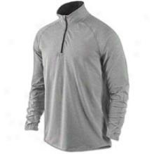 Nike Elenent 1/2 Zip Jacket - Mens - Dark Grey Heather/black/reflective Silver
