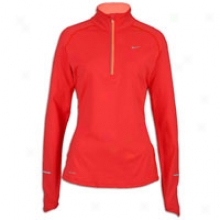 Nike Element 1/2 Zip - Womens - Action Red/bright Mango/reflective Silver