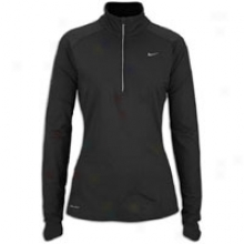 Nike Element Extended 1/2 Zip - Womens - Black/reflective Silver