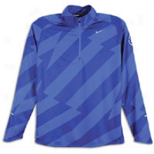 Nike Element Jacq 1/2 Zip Jkt - Mens - Drenched Blue/reflective Silver