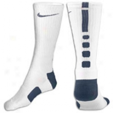 Nike Elite Basketball Crew Sock - Mens - White/navy