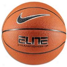 Nike Elite Championship 8-panel Basketball - Mens  -Amber/black/platinum