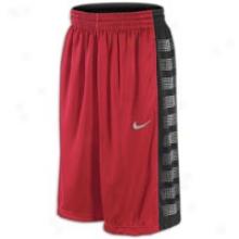 Nike Elite Equalizer Short - Mens - Varsity Red/black/matte Silver