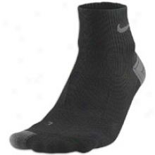Nike Elite Running Cushion Qtr - Black/nano Grey