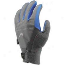 Nike Elite Storm Fit Run Gloves - Womens - Midnight Fog/treasure Blue