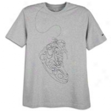 Nike Embroidered Sneaker T-shirt - Mens - Dark Grey Heather