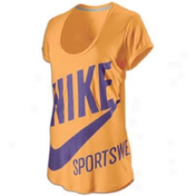 Nike Exploded Nsw Scoop Nk Cap Slv T-shirt - Womens - Melon Crush