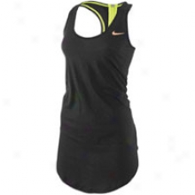 Nike Additional Long Drapy Racerbacl Tank - Womens - Black