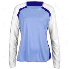 Nike Fast Gait L/s Baselayer T-shirt - Womens - Light Thistle/white/pure Purple/reflective Silver