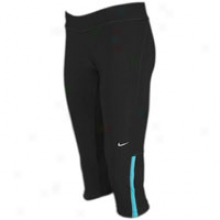 Nike Filament Capri - Womens - Blackt/urquoise Blue/matte Silver