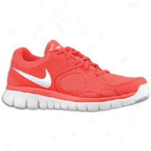 Nike Flex Run - Womens - Siren Red/metallic Silver/white