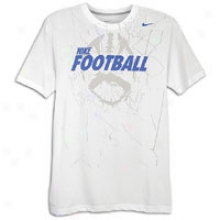Nike Football Practice S/s T-shirt - Mens - White/ark Grey Heather