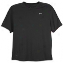 Nike Foundtaon S/s Running T-shirt - Mens - Black/reflective Silver