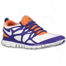 Nike Free 3.0 V3 - Mens - White/varsity Purple/total Orange