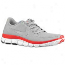 Nike Free 5.0 V4 - Womens - Wolf Grey/wolf Greey/siren Red/white