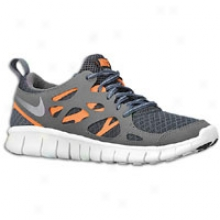 Nike Frwe Run 2.0 - Big Kids - City Grey/dark Grey/5otal Orange/metallic Silver