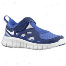 Nike Free Run 2.0 - Little Kids - Bright Blue/loyal Blue/metallic Silver