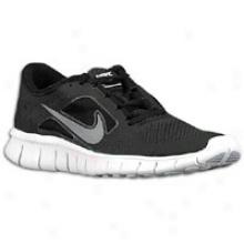 Nike Free Run 3 - Big Kids - Black/white/wolf Grey/reflect Sovler