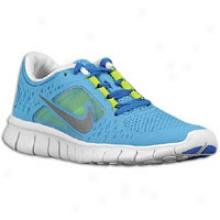 Nike Free Run 3 - Big Kids - Coast/soar Blue/volt/reflect Silver