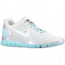 Nike Free Tr Fit 2 - Womens - Pure Platinum/metallic Silver/tide Pool Blue/white
