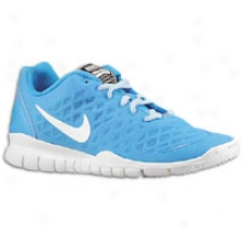 Nike Free Tr Fit - Womens - Blue Glow/chambray Blue/total Orange/white