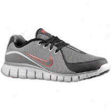 Nike Allowed Walk + - Mens - Darkness Grey/wolf Grey/gym Red/black