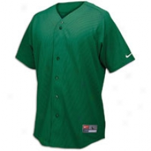 Nike Full Button Mesh Jersey - Mens - Dark Green/white