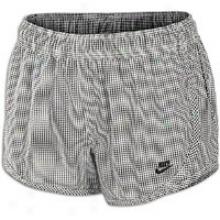 Nike Gingham Tempo Short - Womens - Black/sail