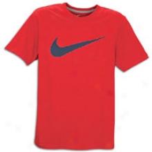 Nike Hangtag Swoosh S/s T-shirt - Mens - Team Oranhe