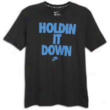 Nike Holdin It Down T-shirt - Mens - Black/soar Blue