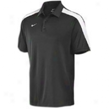 Nike Hot Route Polo - Mens - Black/white/white