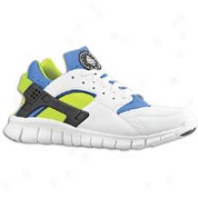 Nike Huarache Free Run - Mens - White/soar/cyber/white