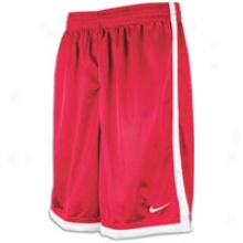 "Nike Hustle 10"" Shorts - Mens - Scarlet/ White/ Wyite"