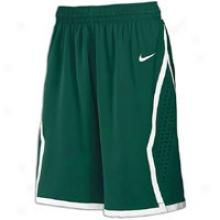 """Nike Hyper Elite 10.25"""" Short - Womens - Dark Green/white"""