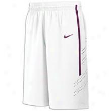 """Nike Hyper Elite 11.25"""" Short - Men s- White/dark Maroon"""