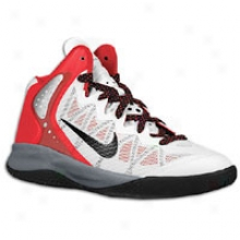 Nike Hyperenforcer - Big Kids - White/sprt Red/cool Grey/black
