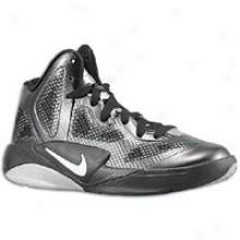 Nike Hyperfuse 2011 - Big Kids - Black/metalic Silver/white