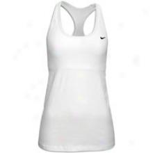 Nike Indy Racerback Long Bra - Womens - White/black