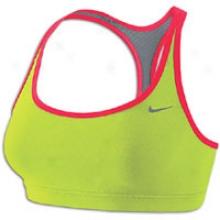 Nike Indy Reversible Racerback Bra - Womens - Cyber/scarlet Fire/cool Grey