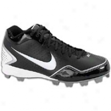 Nike Keystone 3/4 Bg - Big Kids - Black/white/metallic Silver
