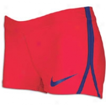 Nike Join Shorty Short - Womdns - Scarlet Fire/drenched Blue
